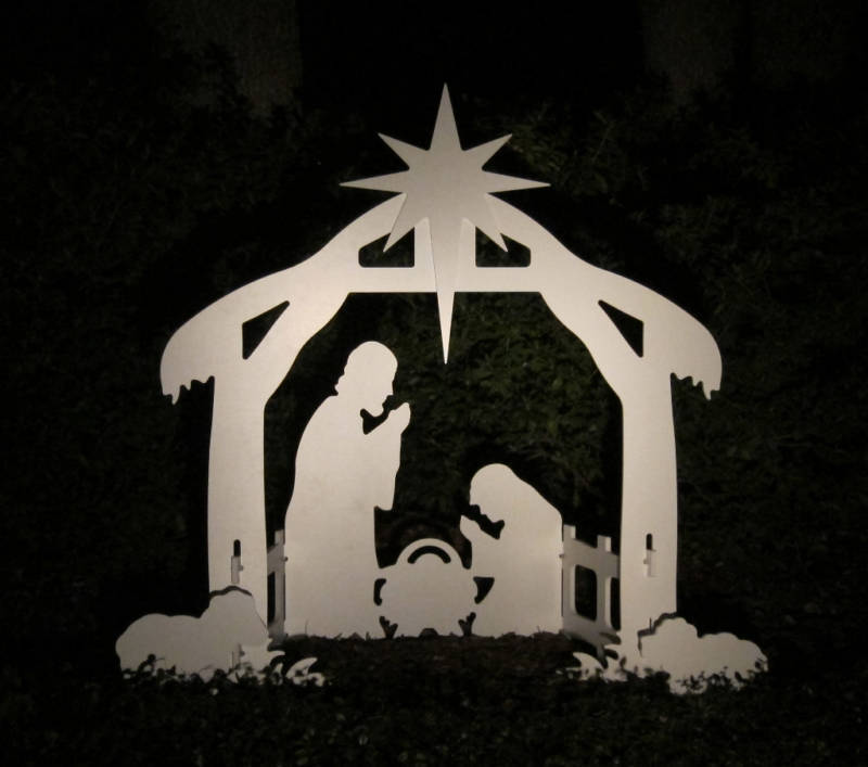Christmas Tree Craft Jesus In Manger