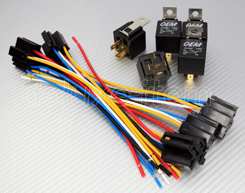 5 pack 20 30 amp bosch style s relay harness spdt 12v ebay. Black Bedroom Furniture Sets. Home Design Ideas