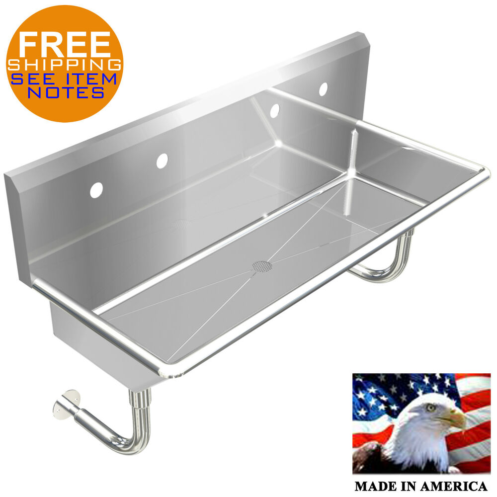 Industrial 2 Station Multiuser Wash Up Hand Sink 48 Quot Wall