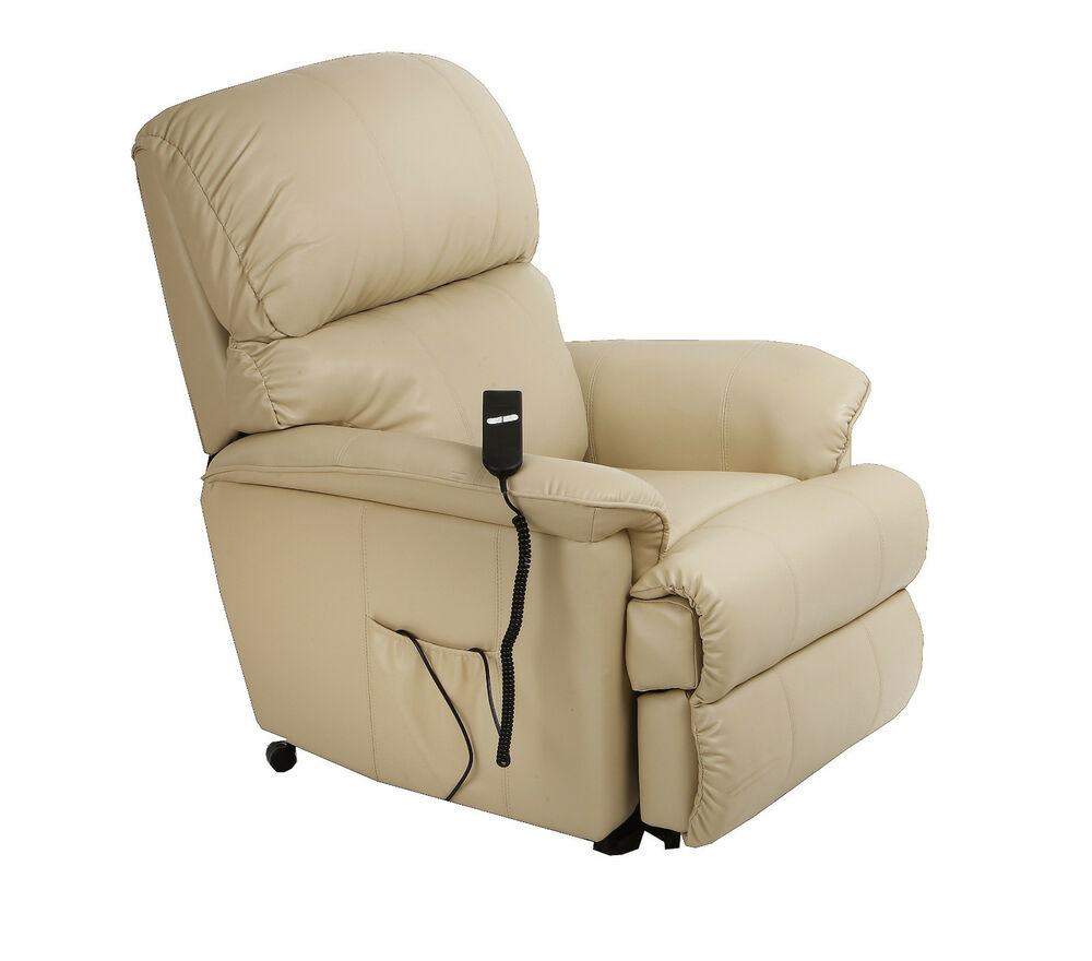 Canterbury Leather Electric Rise Recliner Chair Riser With Heat Masssage