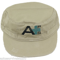 Khaki - A Plus Survival Distressed Military Hat - Brand New! Are you Prepared?