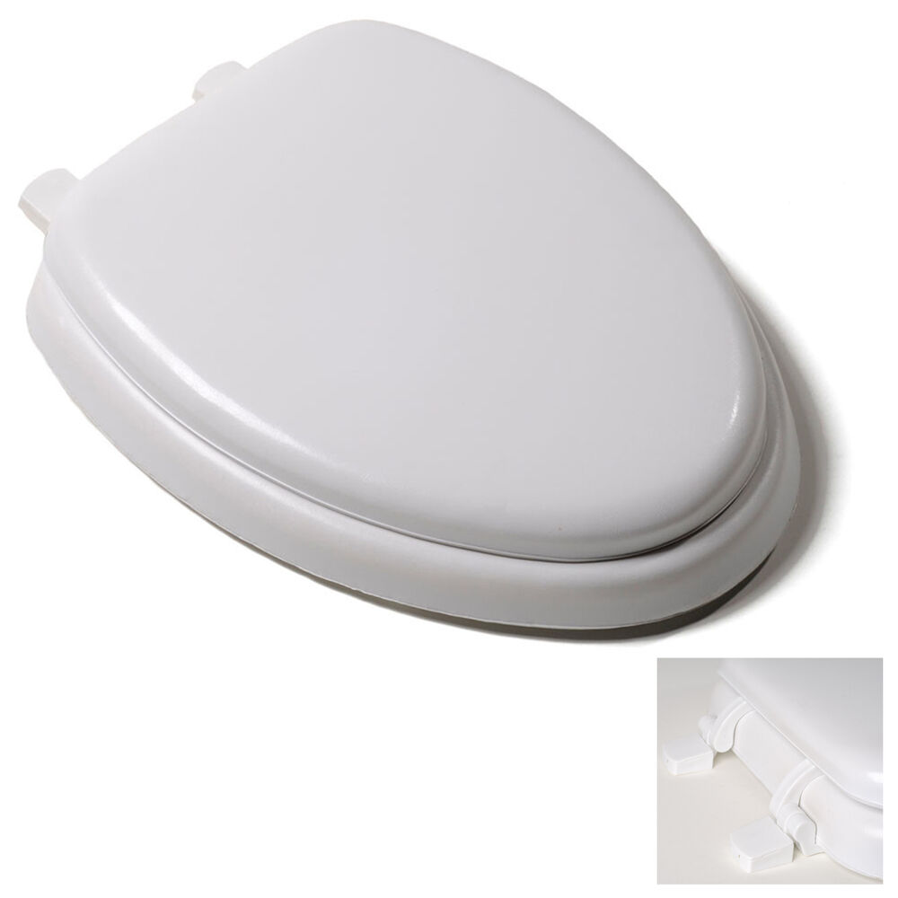 Premium white soft padded elongated toilet seat cushioned - Padded toilet seat cushion ...
