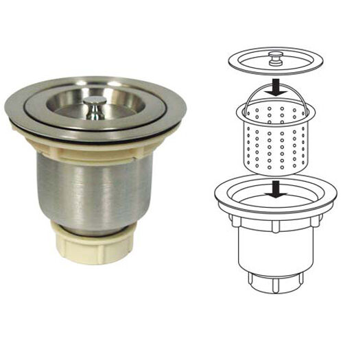 kitchen sink drain basket stainless steel kitchen sink strainer drain basket ebay 5714