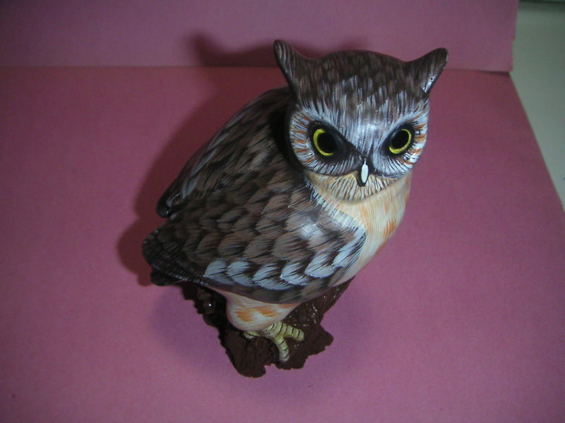 Carving owl on wood 2105 ebay for Owl fish store