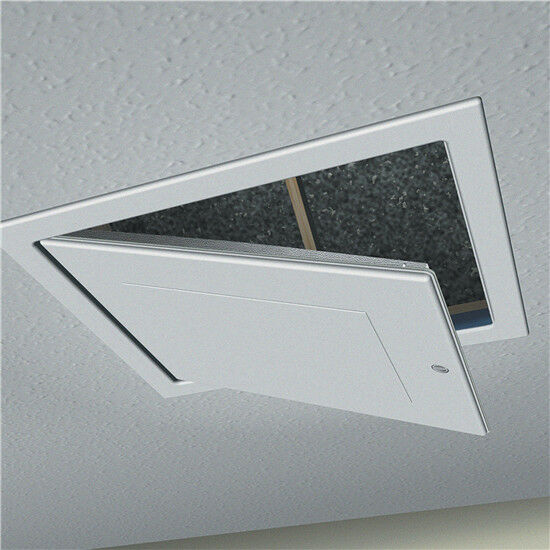 New White Drop Down Loft Roof Hatch Access Door Panel