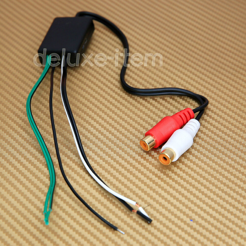car stereo radio speaker wire to pair rca line level. Black Bedroom Furniture Sets. Home Design Ideas