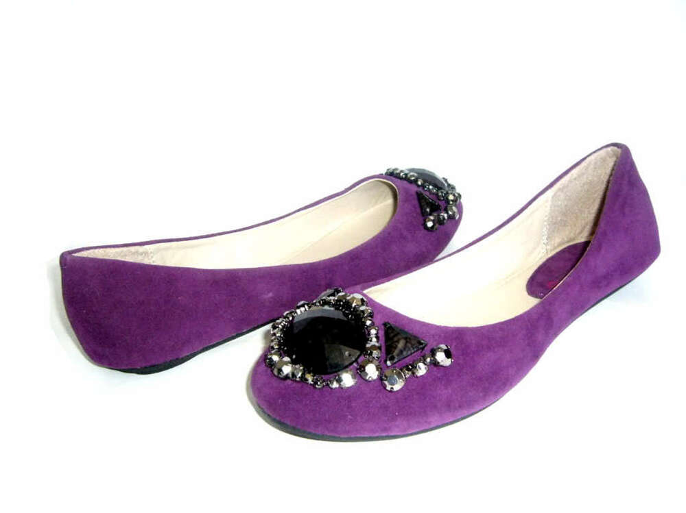 new purple suede casual flat womens shoes ebay