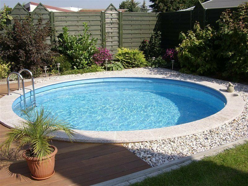 Pool set rund 6m x 1 50m becken 0 8 folie stahlwandbecken for Garten pool 6m