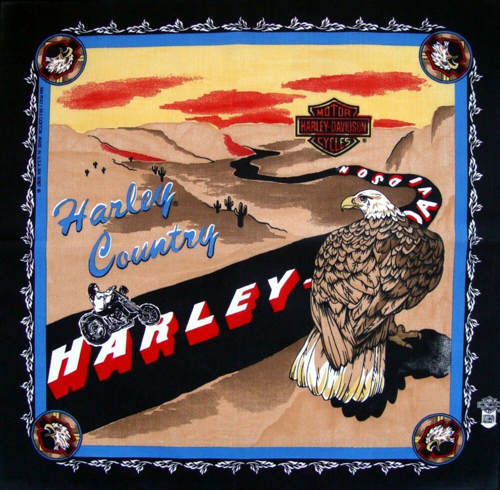 eagle country bandana harley davidson motorcycles usa ebay. Black Bedroom Furniture Sets. Home Design Ideas