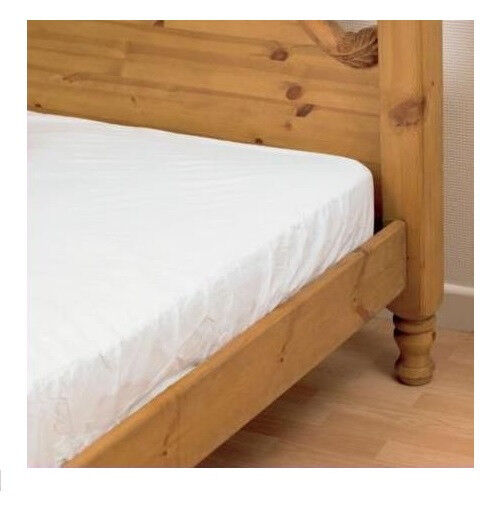 waterproof double bed fitted mattress cover pvc sheet ebay. Black Bedroom Furniture Sets. Home Design Ideas
