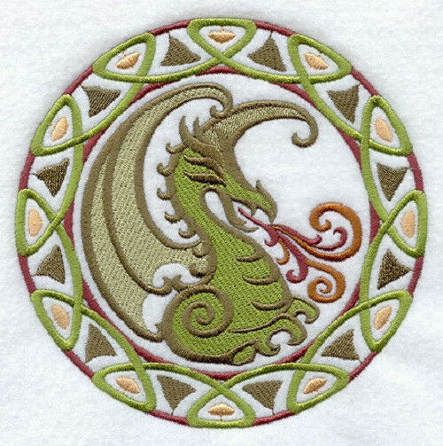 Celtic Dragon Set 2 Hand Towels Embroidered New Ebay
