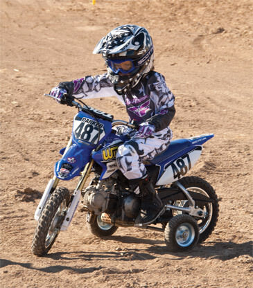 yamaha pw50 motocross training wheels fly moto trainer ebay. Black Bedroom Furniture Sets. Home Design Ideas