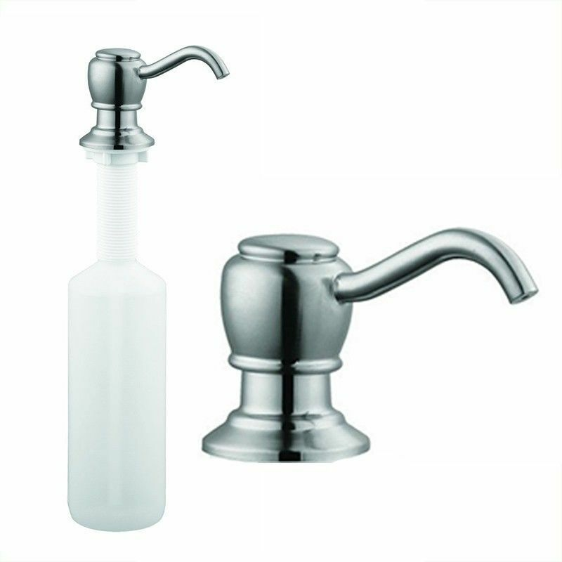 Brushed Nickel Kitchen Sink Faucet Liquid Soap Dispenser