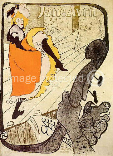 toulouse lautrec art poster jardin de paris jane avril ebay. Black Bedroom Furniture Sets. Home Design Ideas