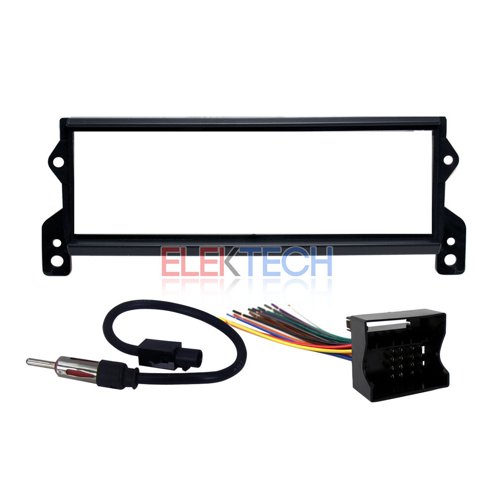 2002 2007 mini cooper s radio dash mounting kit harness ebay. Black Bedroom Furniture Sets. Home Design Ideas