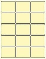 "6 SHEETS  2x2-3/4 BLANK YELLOW STICKERS MATTE 8-1/2""x11"" SHEETS ~ 90 LABELS"