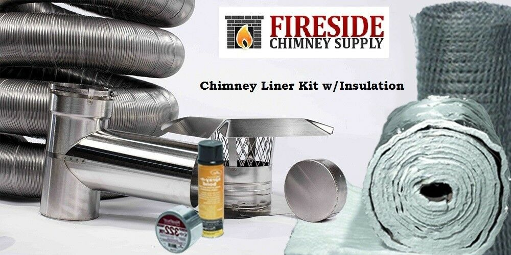 6 Quot X 20 Flexible Chimney Liner Tee Kit W Insulation Ebay