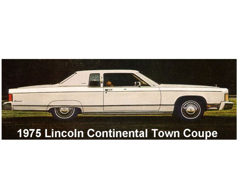 1975 lincoln continental town coupe auto magnet ebay. Black Bedroom Furniture Sets. Home Design Ideas
