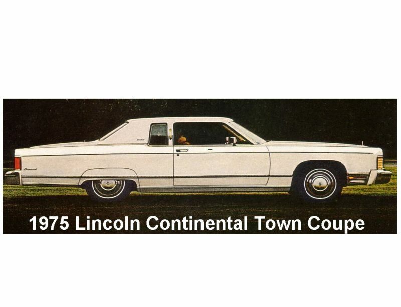 1975 Lincoln Continental Town Coupe Auto Magnet Ebay