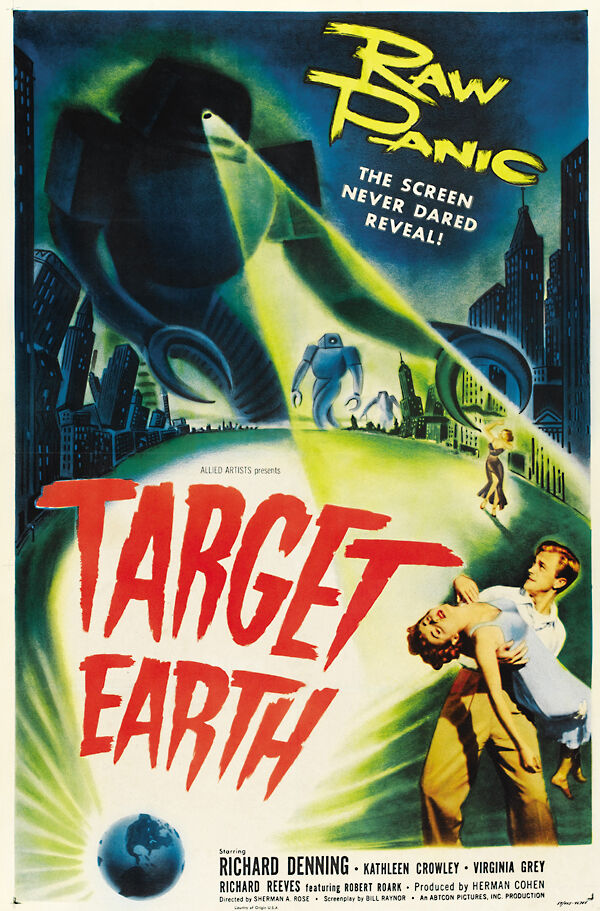 Target Earth Vintage Horror Movie Poster -24x36 | eBay