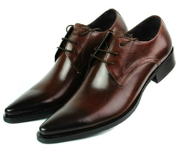 new real leather business mens dress shoes lace up ebay