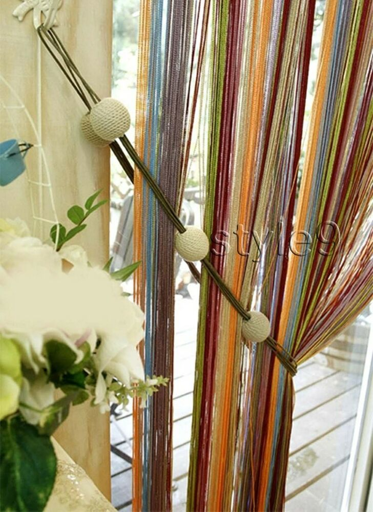 Free Shipping Multi Color Door Window Panels String: Multi-color String Curtain Fringe Panel Room Divider