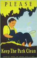 Keep The Park Clean Works Projects Vintage WPA Poster