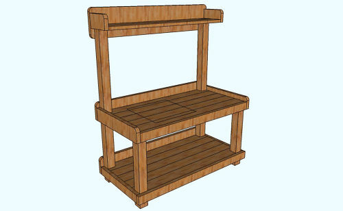 BEAUTIFUL BACKYARD POTTING CENTER/BENCH (Plans only) | eBay