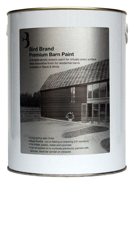 Bird Brand Premium Barn Paint Several Colours Sizes Acrylic Exterior Paint Ebay