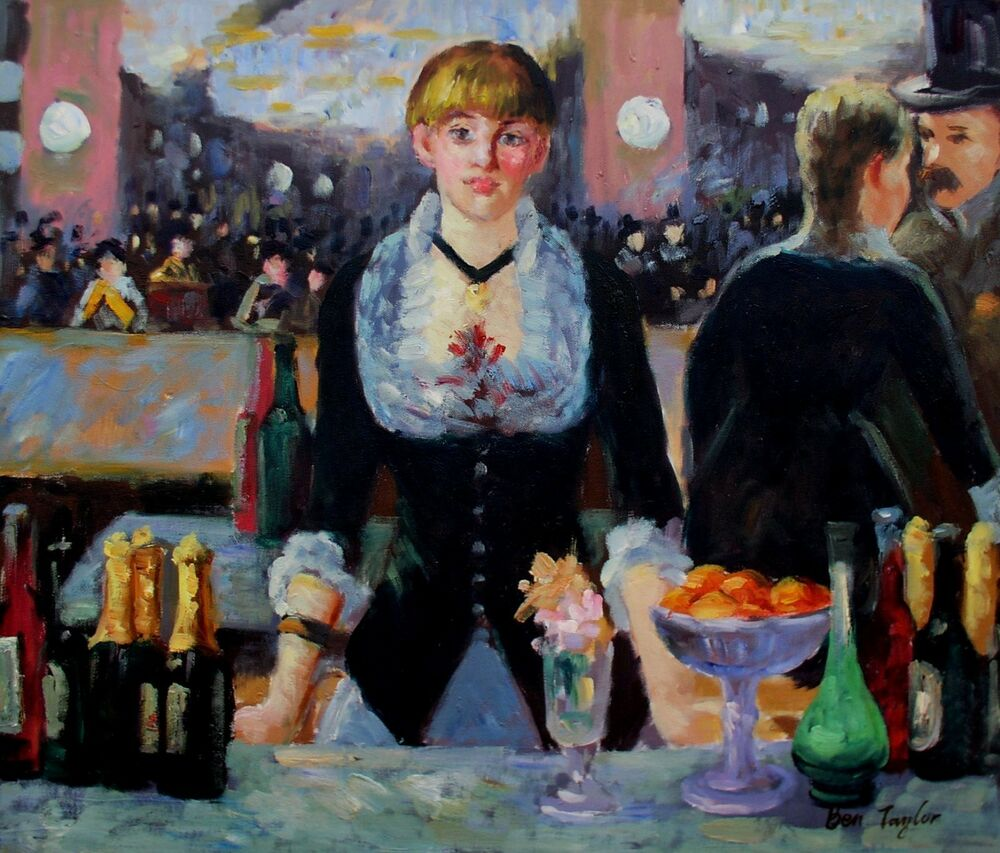 an analysis of a bar at the folies bergere a painting by edouard manet Buy a bar at the folies bergeres by edouard manet framed and unframed prints, posters and stretched canvases available now.