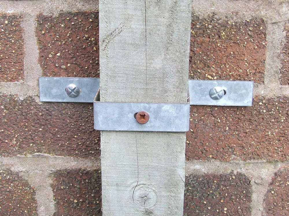 Wall Band Fix Wooden Post To Wall Fencing Panel Fence Ebay
