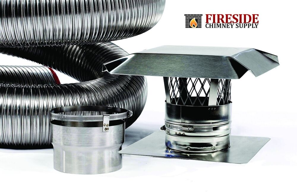 8 Quot X 20 316ti Stainless Steel Flexible Chimney Flue Liner