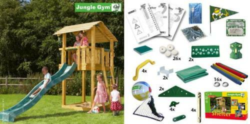 jungle gym shelter spielturm baumhaus bausatz zum selber bauen ohne holz ebay. Black Bedroom Furniture Sets. Home Design Ideas