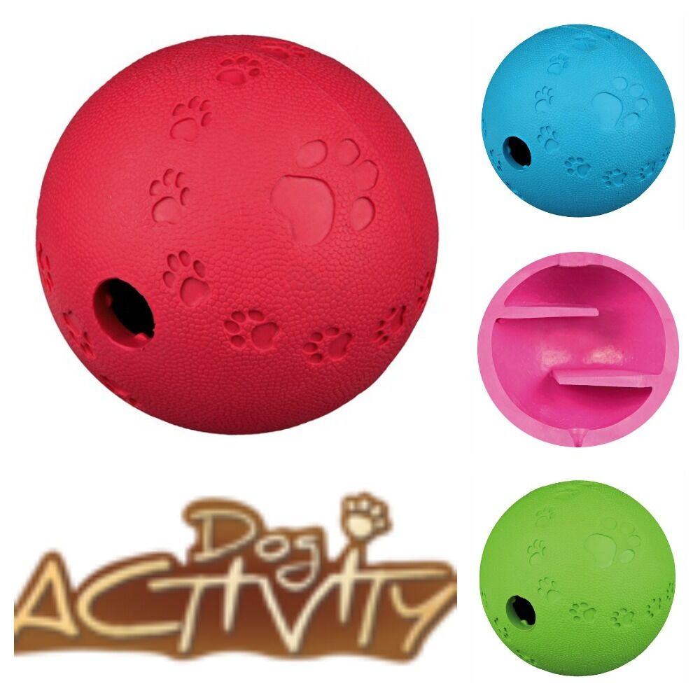 Rubber Ball Dog Toy : Dog toy dogs treat labyrinth natural rubber ball ebay