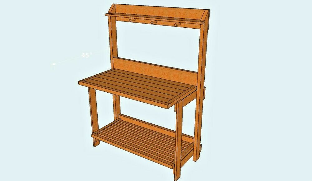 STURDY FOLD-UP POTTING BENCH / TABLE (WOOD PLANS ONLY) | eBay
