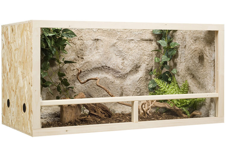 holz terrarium terrarien 120 x 60 x 60 cm osb platte seitenbel ftung ebay. Black Bedroom Furniture Sets. Home Design Ideas