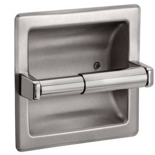 recessed toilet paper holder brushed nickel ebay. Black Bedroom Furniture Sets. Home Design Ideas