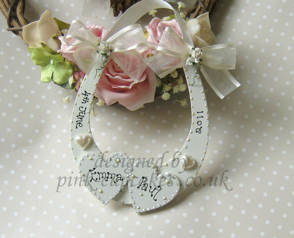 PERSONALISED WOODEN WEDDING KEEPSAKE LUCKY HORSESHOE GIFT eBay