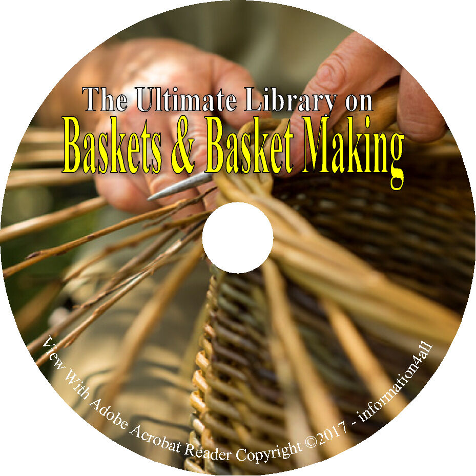 Basket Weaving Books Free : Books on cd ultimate library baskets basket