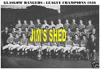 GLASGOW RANGERS F.C.TEAM PRINT 1956 (LEAGUE CHAMPIONS)