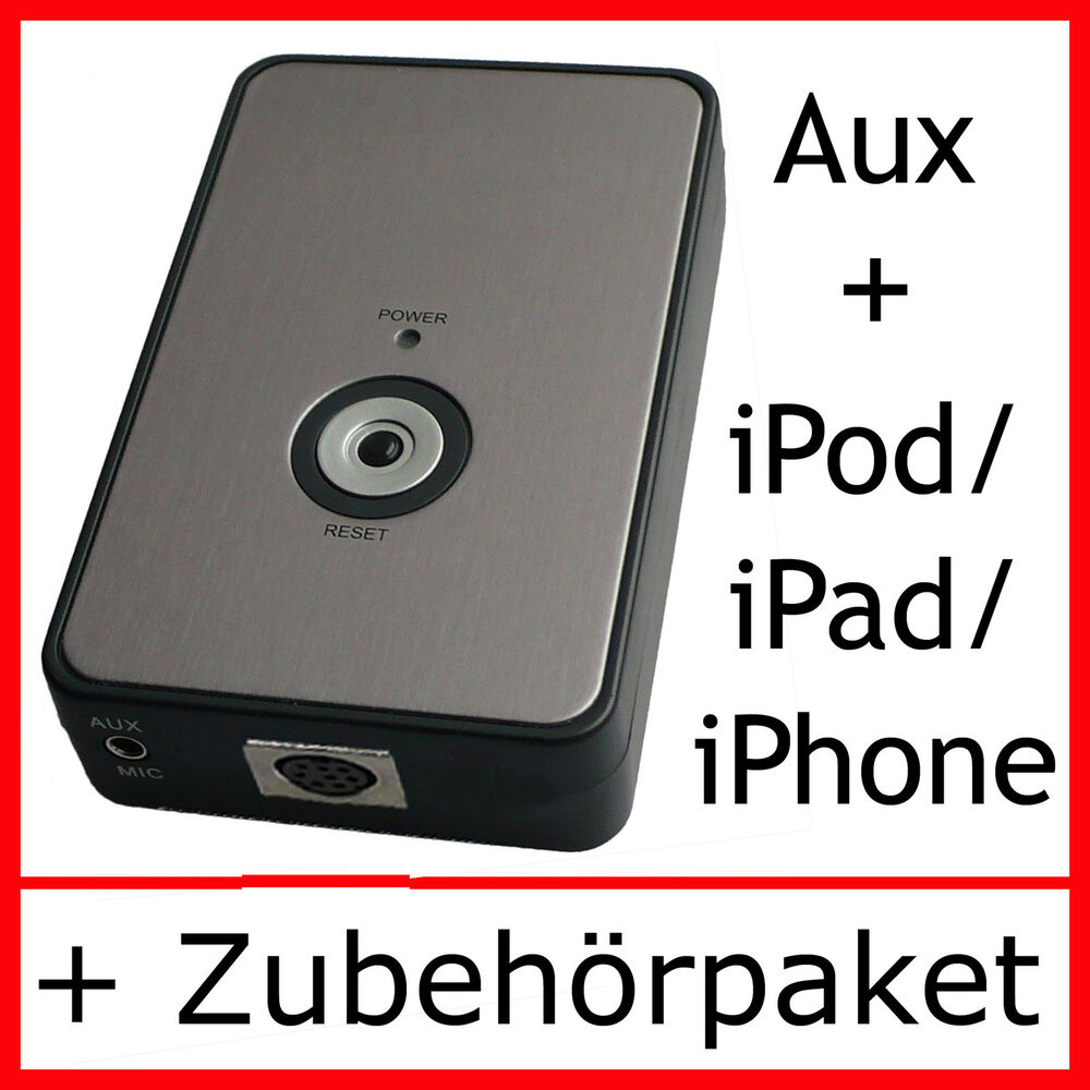 ipod iphone aux adapter vw rcd 210 310 510 rns 300 ebay. Black Bedroom Furniture Sets. Home Design Ideas