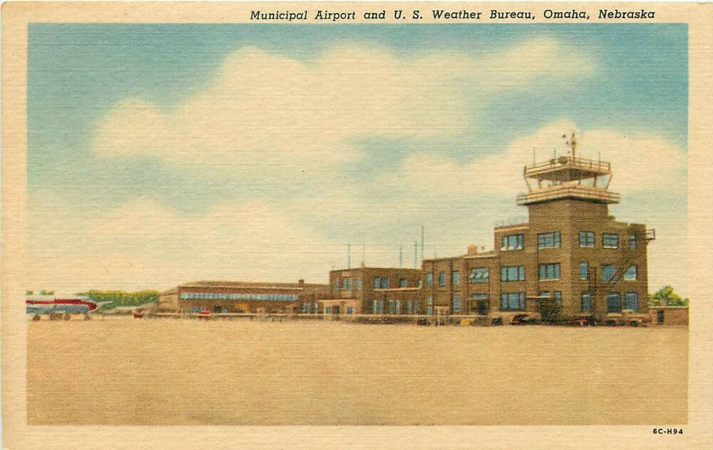 omaha ne municipal airport u s weather bureau linen ebay. Black Bedroom Furniture Sets. Home Design Ideas