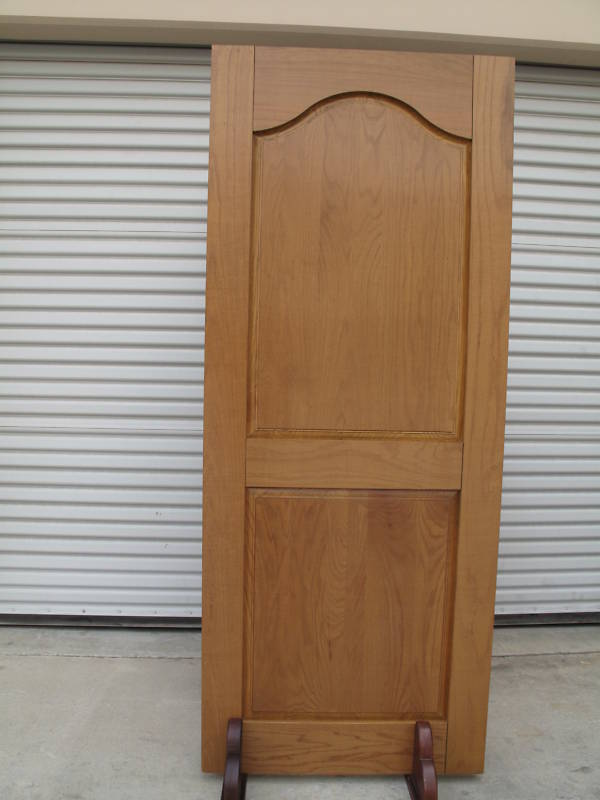 solid red oak wood slab door with factory finish ebay