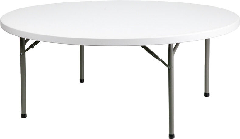 72 Quot Round Plastic Folding Table Heavy Duty Commercial