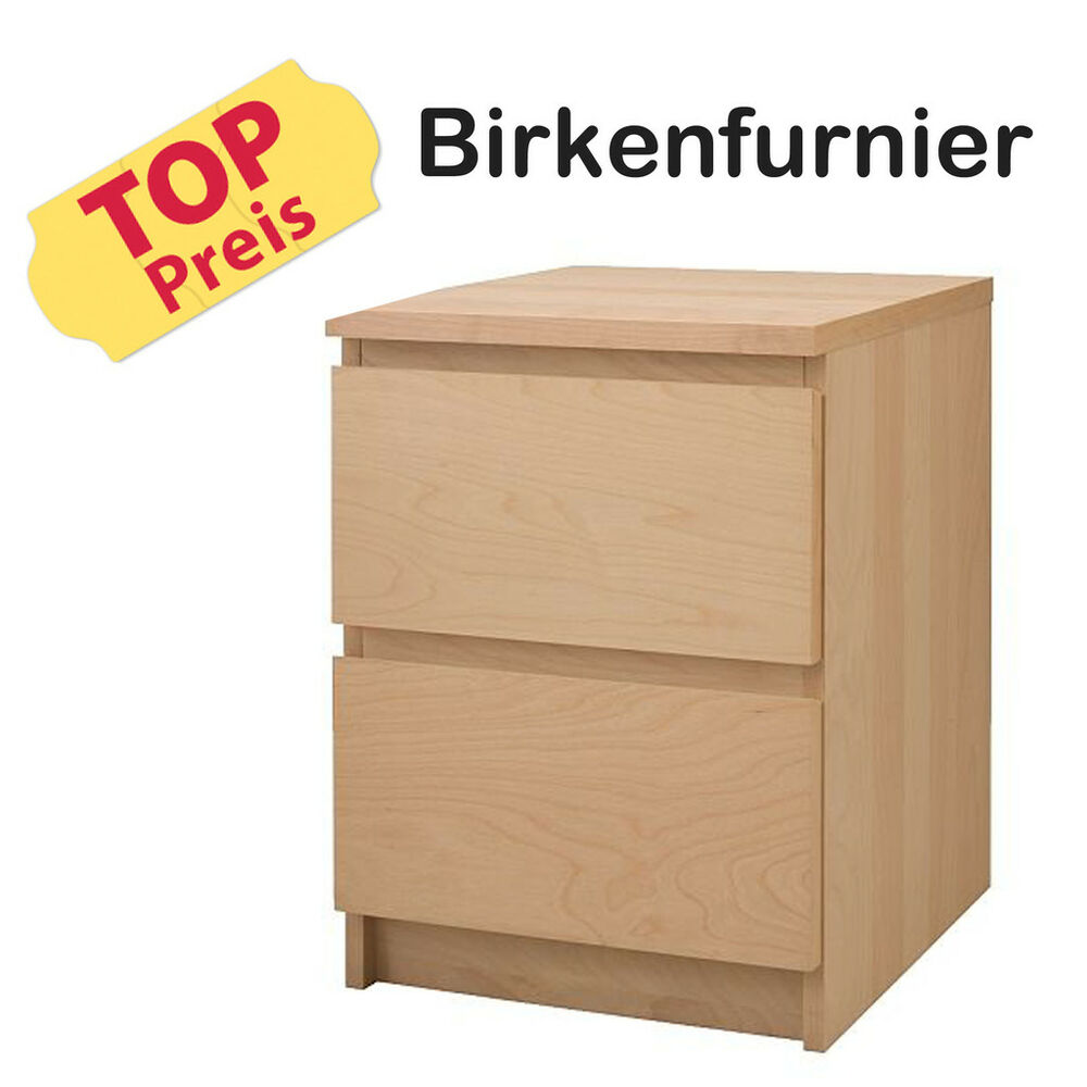 ikea kommode schrank 2 schubladen malm birke neu ovp ebay. Black Bedroom Furniture Sets. Home Design Ideas