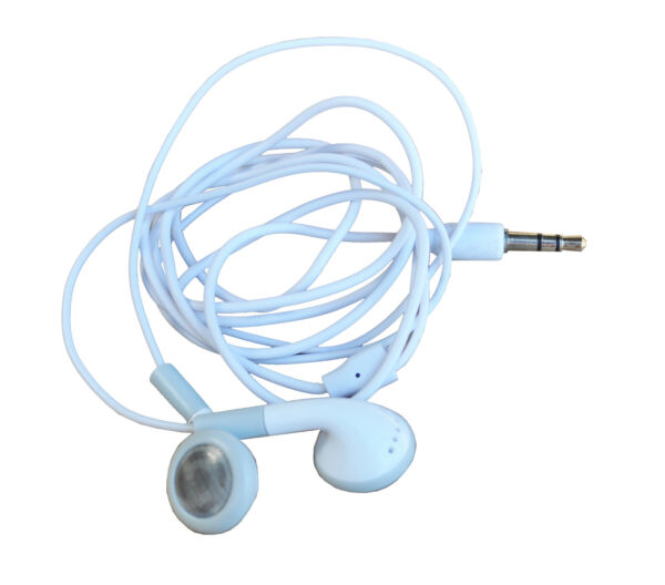 White Earphones Ipod Iphone Ipad MP3 MP4 Mobile Phone Compatible Headphones