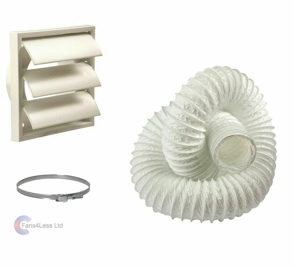 Tumble Dryer Kit 100mm Wall Vent Venting Kit Ebay