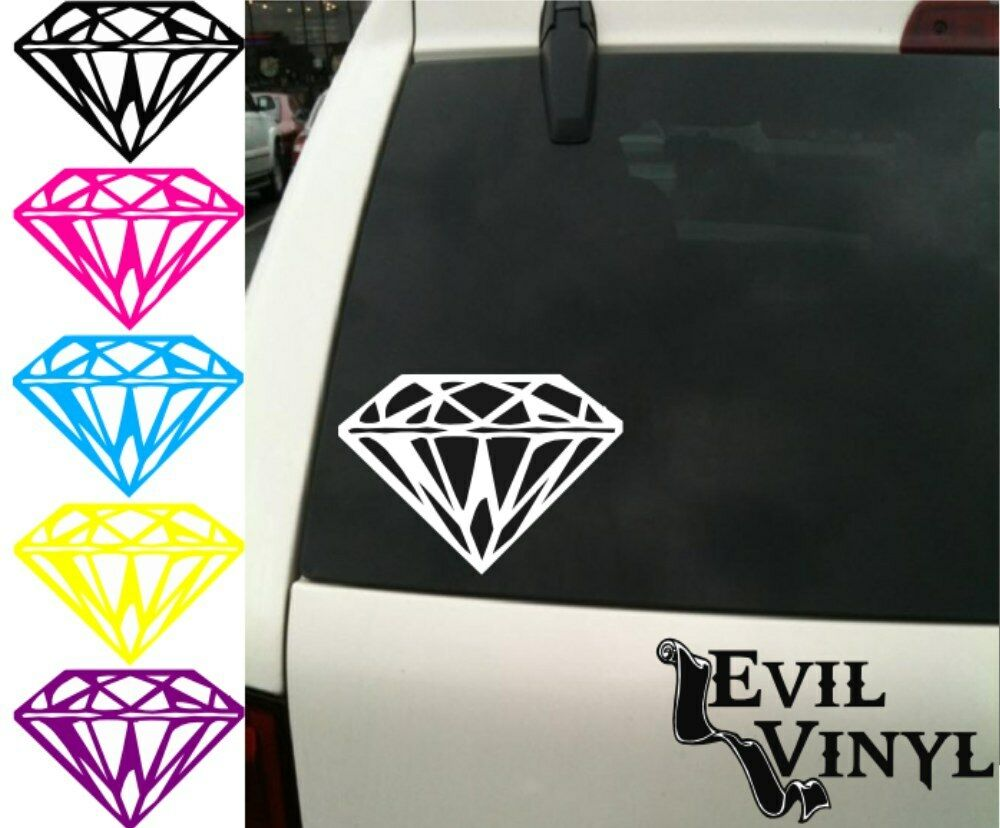 Vinyl Window Decals : Diamond decal car window vinyl jewel bling love pretty