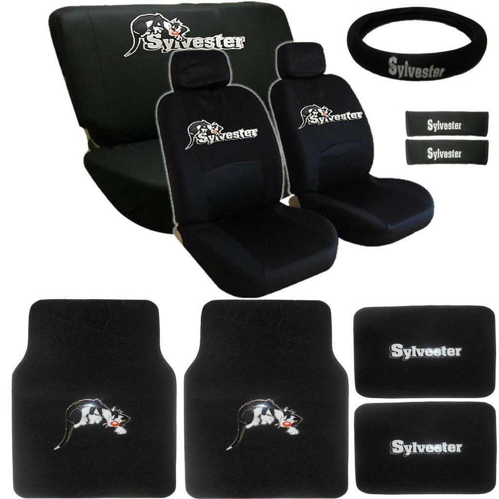 15pc Looney Tunes Sylvester Seat Cover Amp Floor Mats Ebay