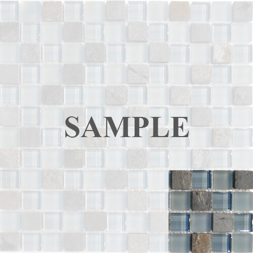 Sample- Natural Stone Blue Glass Mosaic Tile Kitchen